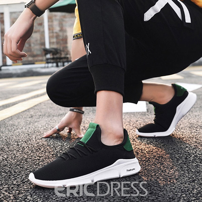 Ericdress Color Block Lace-Up Men's Mesh Sneakers