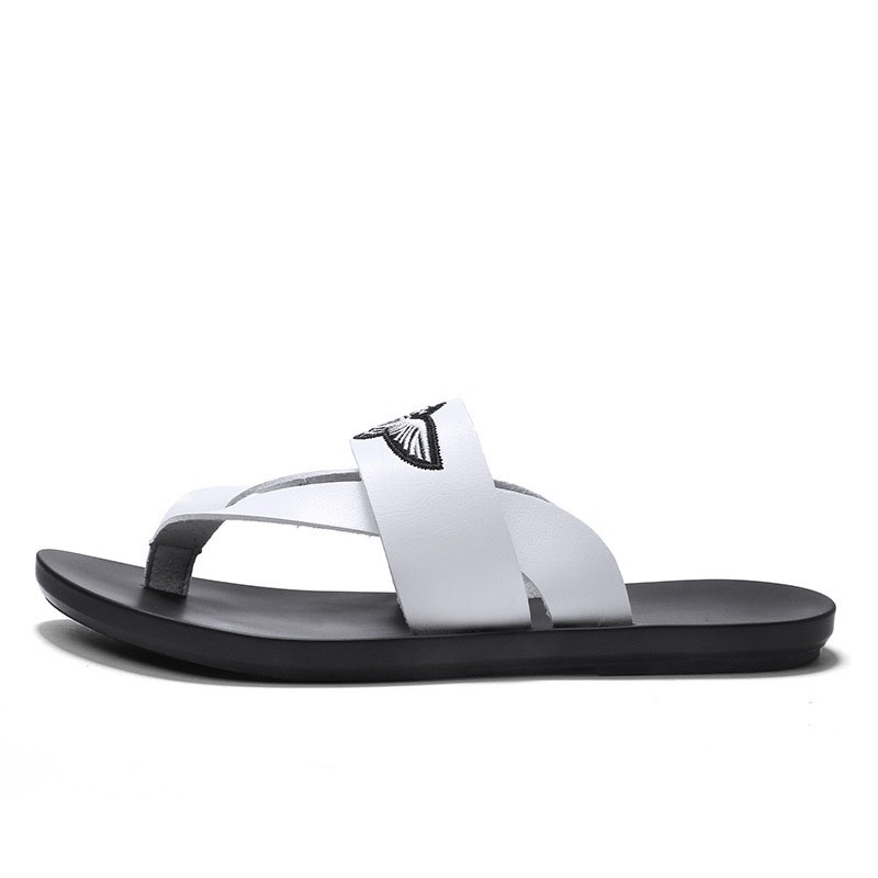 Ericdress PU Thong Color Block Men's Slippers