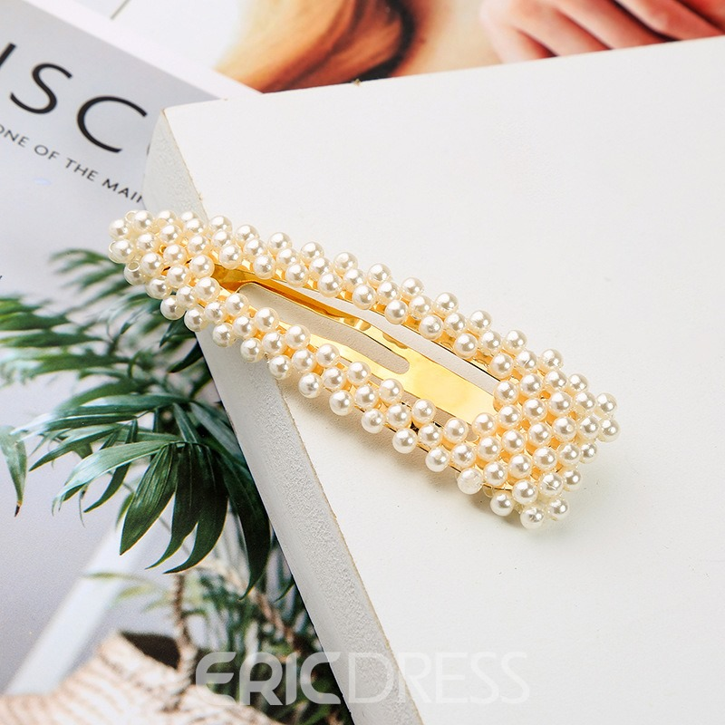 Ericdress Barrette Pearl Blandness Hair Accessories