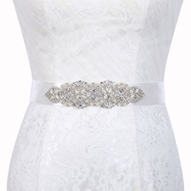 Wide (>4cm) Rhinestone Bridal Belts