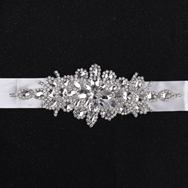 Regular(2-4cm) Fabric Rhinestone Bridal Belts