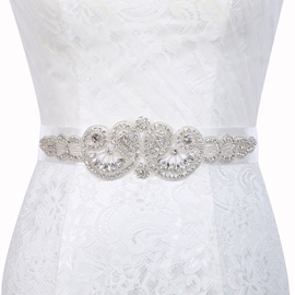 Polyester Regular(2-4cm) Rhinestone Bridal Belts