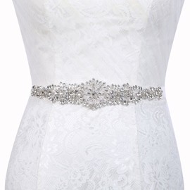 Polyester Regular(2-4cm) Mosaic Bridal Belts