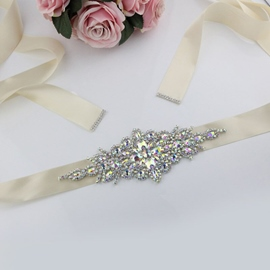 Delicate Polyester Wide Belt(>4cm) Mosaic Bridal Belts