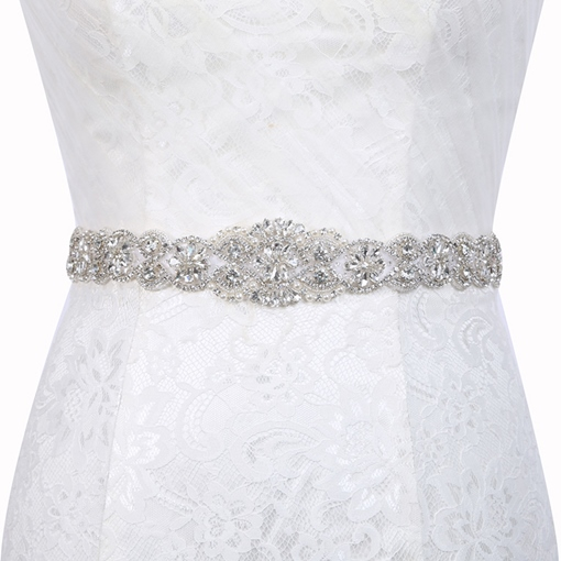 Ericdress Regular(2-4cm) Polyester Rhinestone Bridal Belts