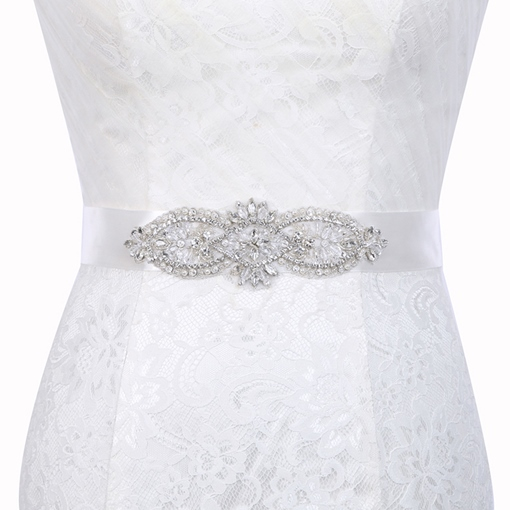 Polyester Wide Belt(>4cm) Rhinestone Bridal Belts