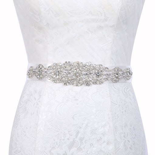 Wide Belt(>4cm) Rhinestone Bridal Belts