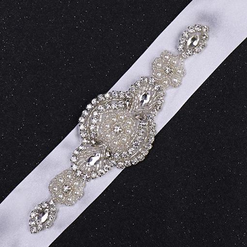 Fabric Regular(2-4cm) Rhinestone Bridal Belts