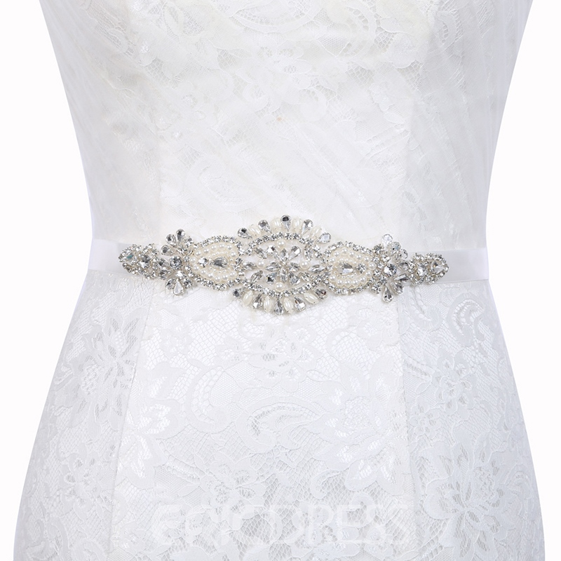 Regular Polyester Rhinestone Bridal Belts