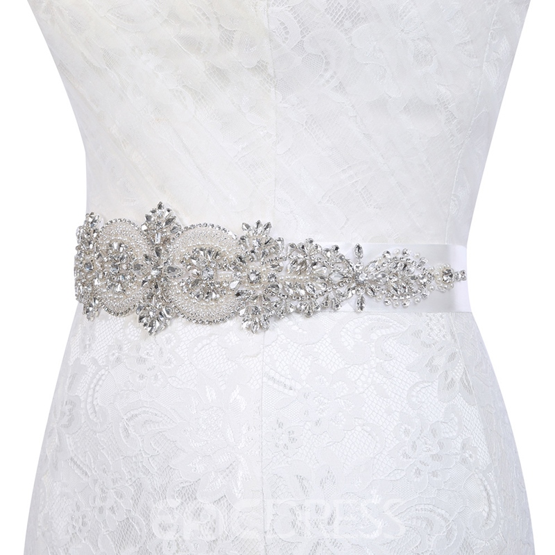 Wide Belt(>4cm) Polyester Mosaic Bridal Belts