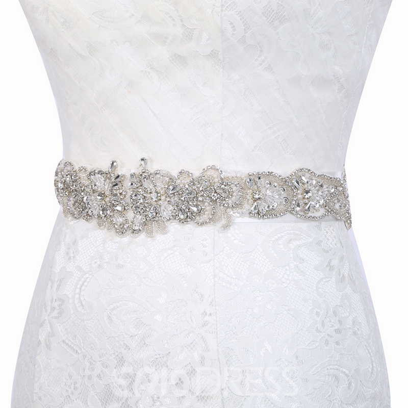 Wide Belt(>4cm) Polyester Rhinestone Bridal Belts