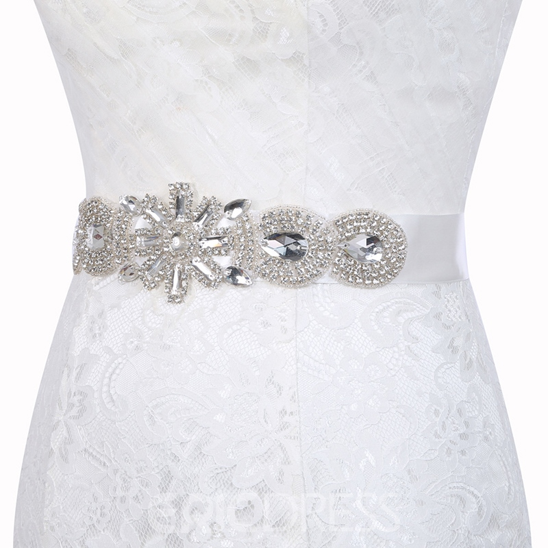 Polyester Regular(2-4cm) Rhinestone Wedding Bridal Belts