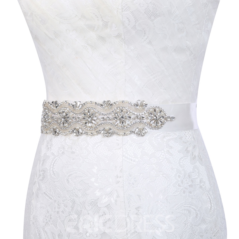 Polyester Wide Belt(>4cm) Mosaic Bridal Belts