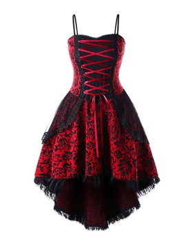 Ericdress Mid-Calf Sleeveless Lace Floral Halloween Costume Dress