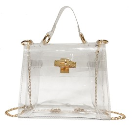 Ericdress Clear Chain PVC Flap Crossbody Bags