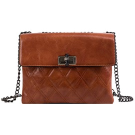 Ericdress PU Quilted Lining Plaid Rectangle Handbags