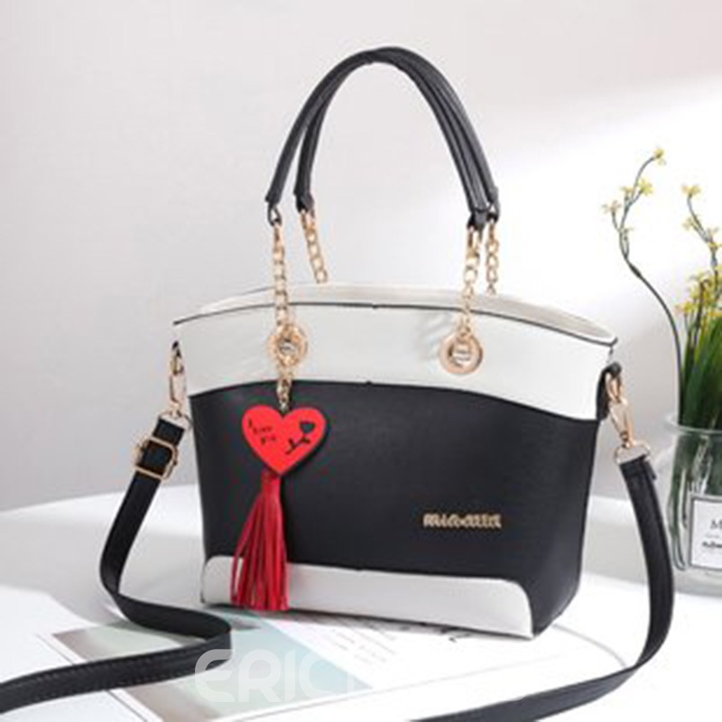 Ericdress Casual Color Block PU Handbags