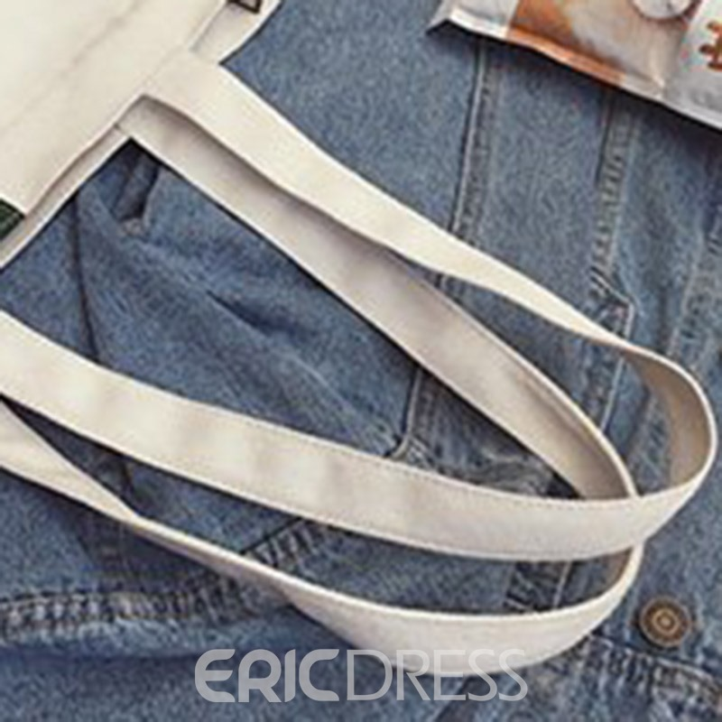 Ericdress Canvas Rectangle Shoulder Bags