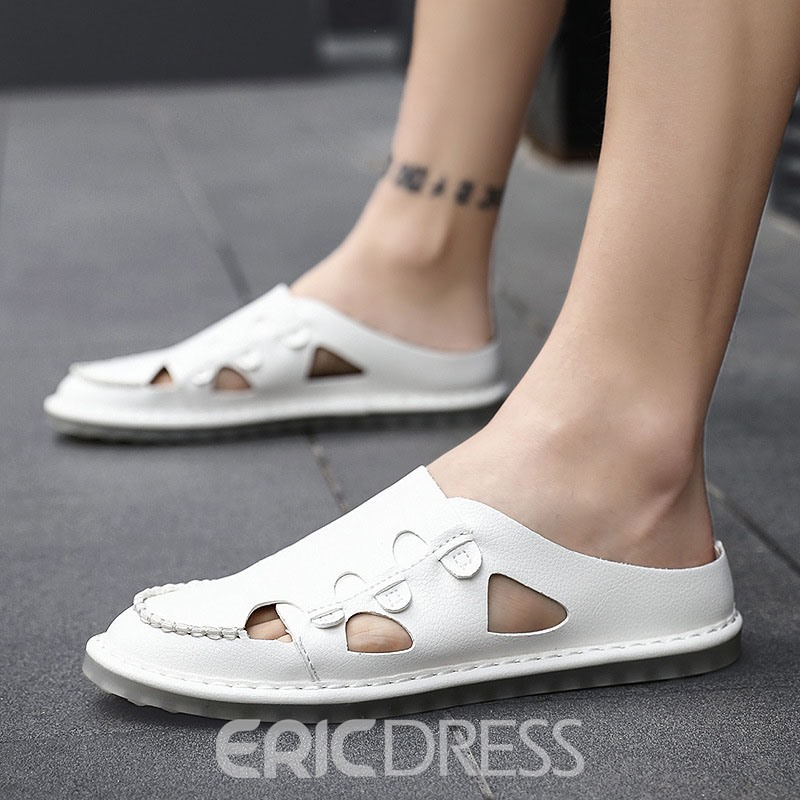 Ericdress Plain Simple Hollow Men's Sandals