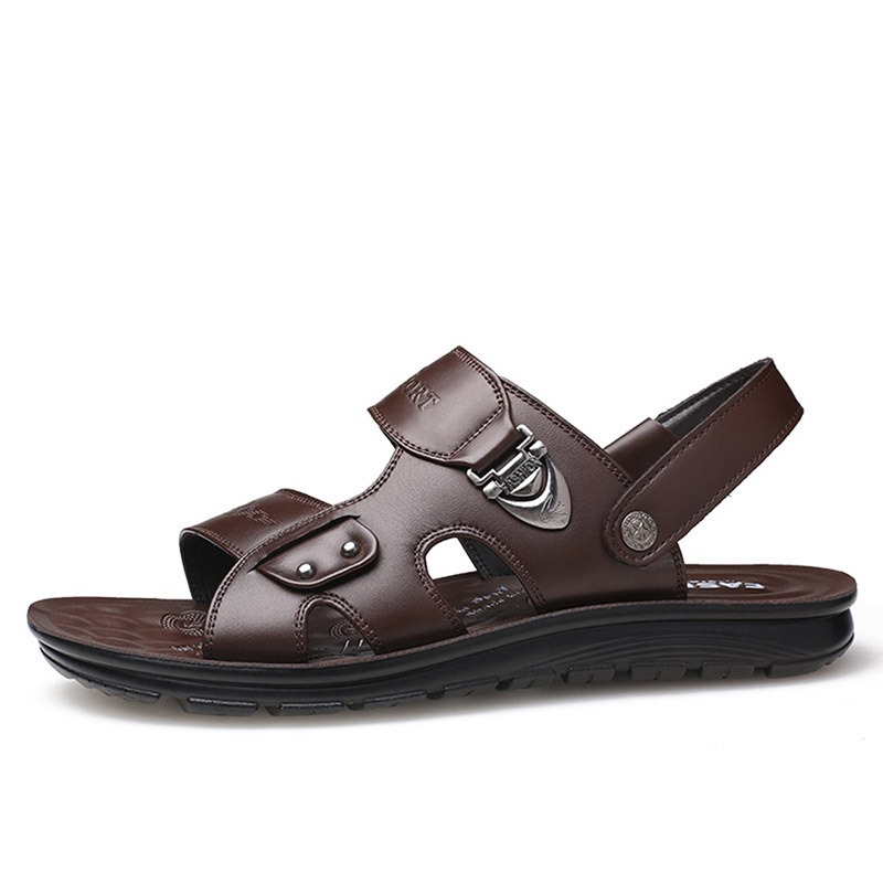 Ericdress PU Letter Simple Open Toe Men's Sandals