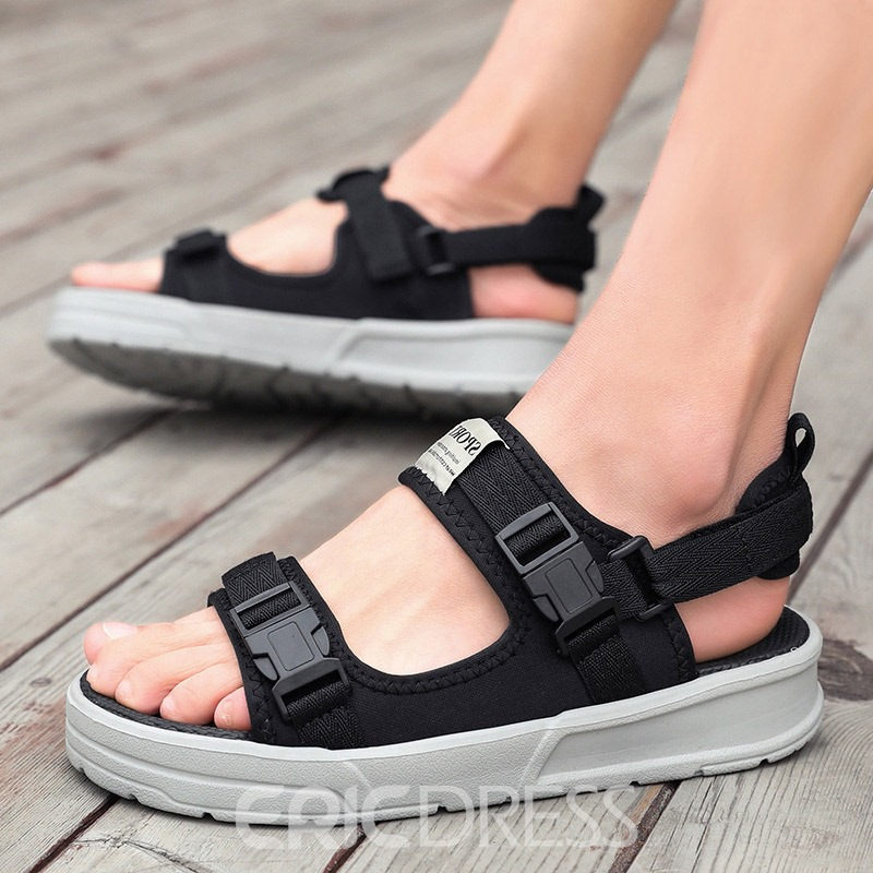 Ericdress Mesh Color Block Open Toe Men's Sandals