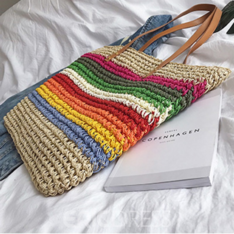 Ericdress Knitted PU Shoulder Bags