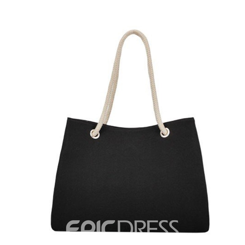 Ericdress Summer Cool Plain Canvas Square Soft Shoulder Bags