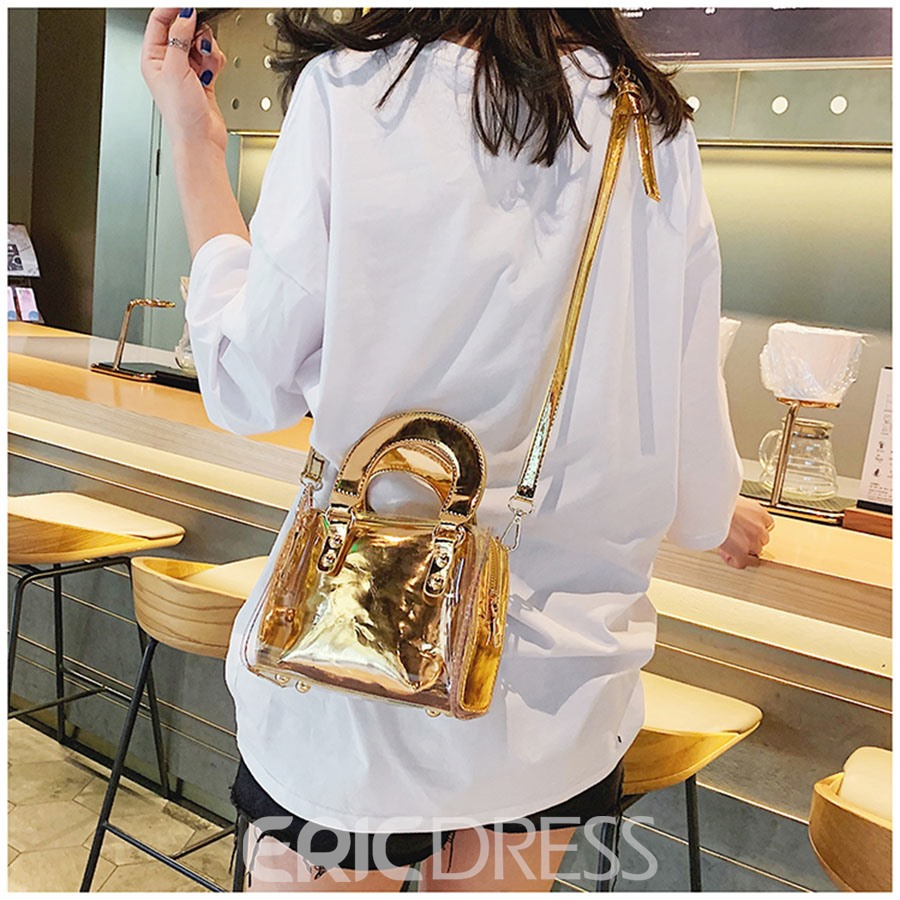 Ericdress Clear Plain PVC Square Handbags