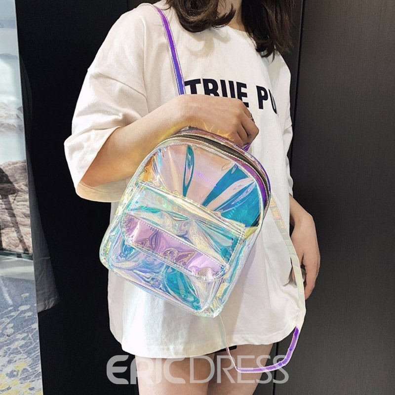 Ericdress Clear ABS Plastic Plain Backpacks