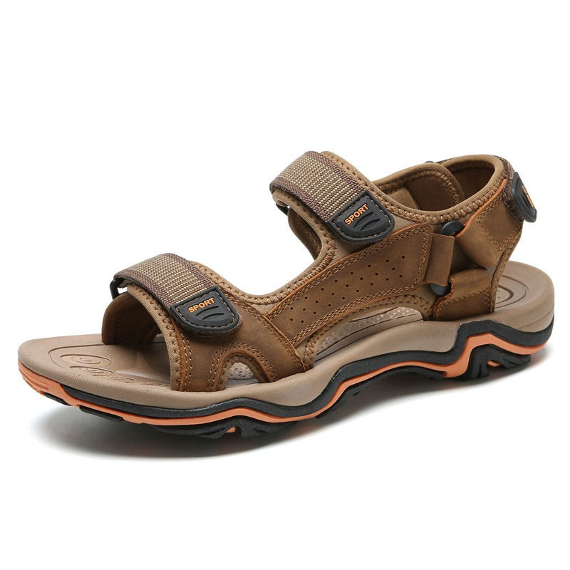Ericdress Color Block Velcro Open Toe Men's Sandals