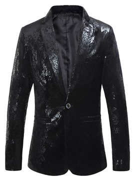 Ericdress Casual Button Notched Mens Lapel Blazer