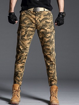 Ericdress Zipper Camouflage Zipper Mens Casual Pants