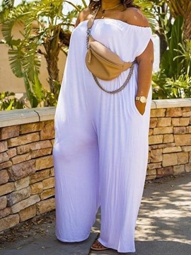 Ericdress Plain Off-Shoulder Full Length Casual Loose Jumpsuit