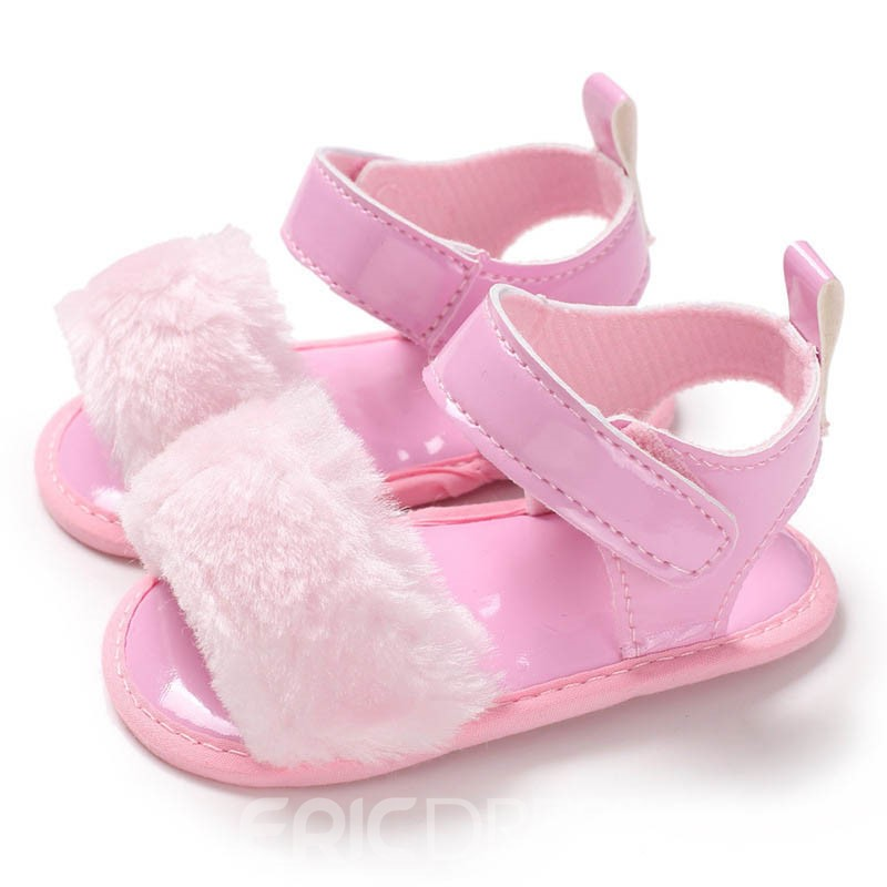 Ericdress Plain Velcro Baby Girl Toddler Shoes