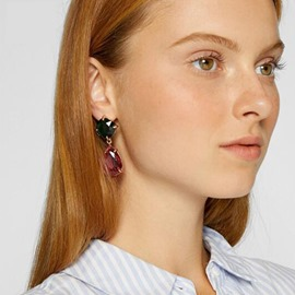 Ericdress Color Block Gems Extravagant Earrings
