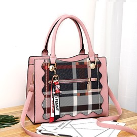 Ericdress Plaid PU European Handbags