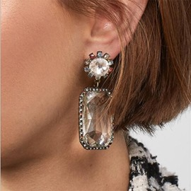 Ericdress European Alloy Gems Earrings