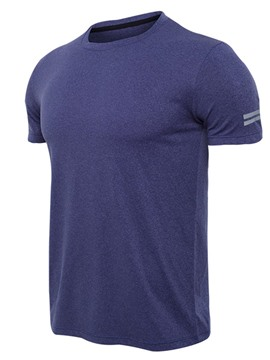 Ericdress Men Solid Quick Dry Short Sleeve Gym Sports T-shirt