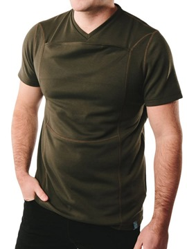 Ericdress Round Neck Pocket Casual Short Sleeve Mens Loose T-shirt