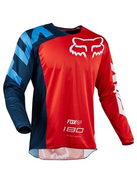 Ericdress Men Color Block Print Long Sleeve Cycling Outdoor Sports Tops