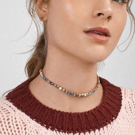 Ericdress Diamante Fashion Choker Female Necklace