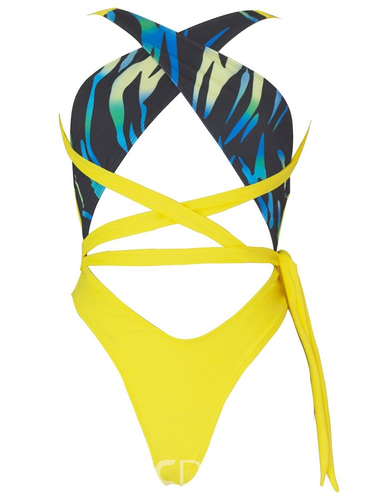 Ericdress One Piece Color Block Micro Bikini