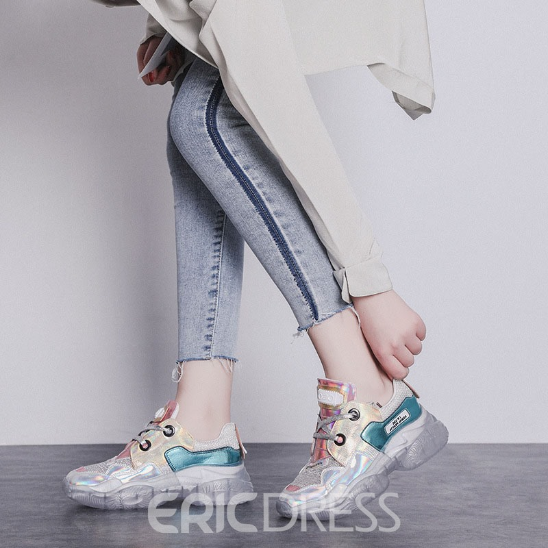 Ericdress Sequin Round Toe Women's Chic Sneakers