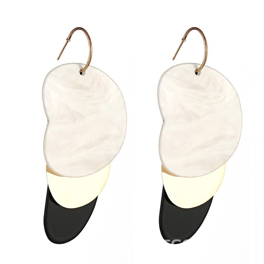 Ericdress Color Block Alloy Shell Earrings