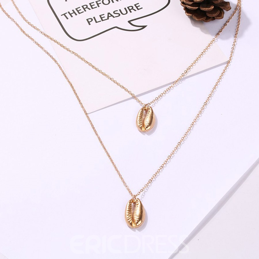 Ericdress Plain Shell Sexy Pendant Necklace