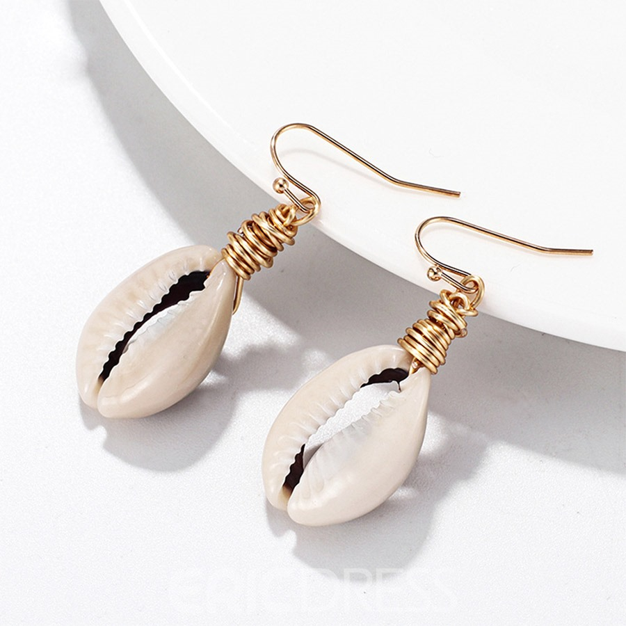 Ericdress Conch Natural Earrings