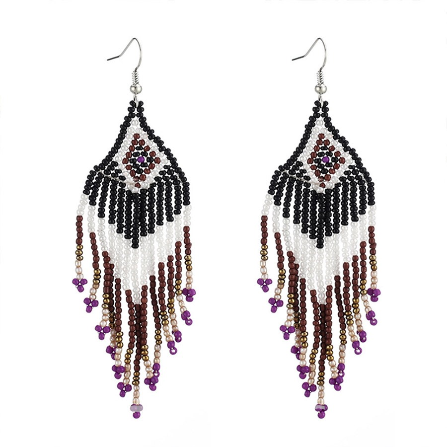 Ericdress Stylish Retro Bohemian Tassel Long Earrings