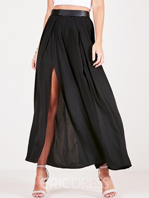 Ericdress Plain Loose Split Full Length Casual Pants(Without Belt)