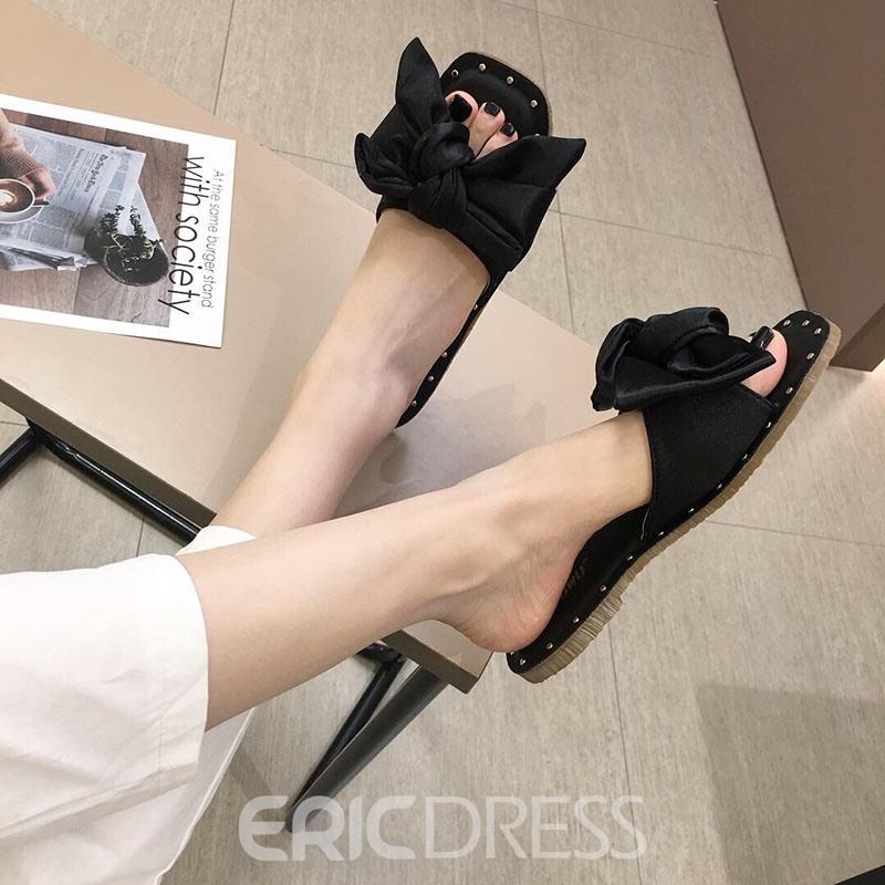 Ericdress Bow Sweet Women's Slippers