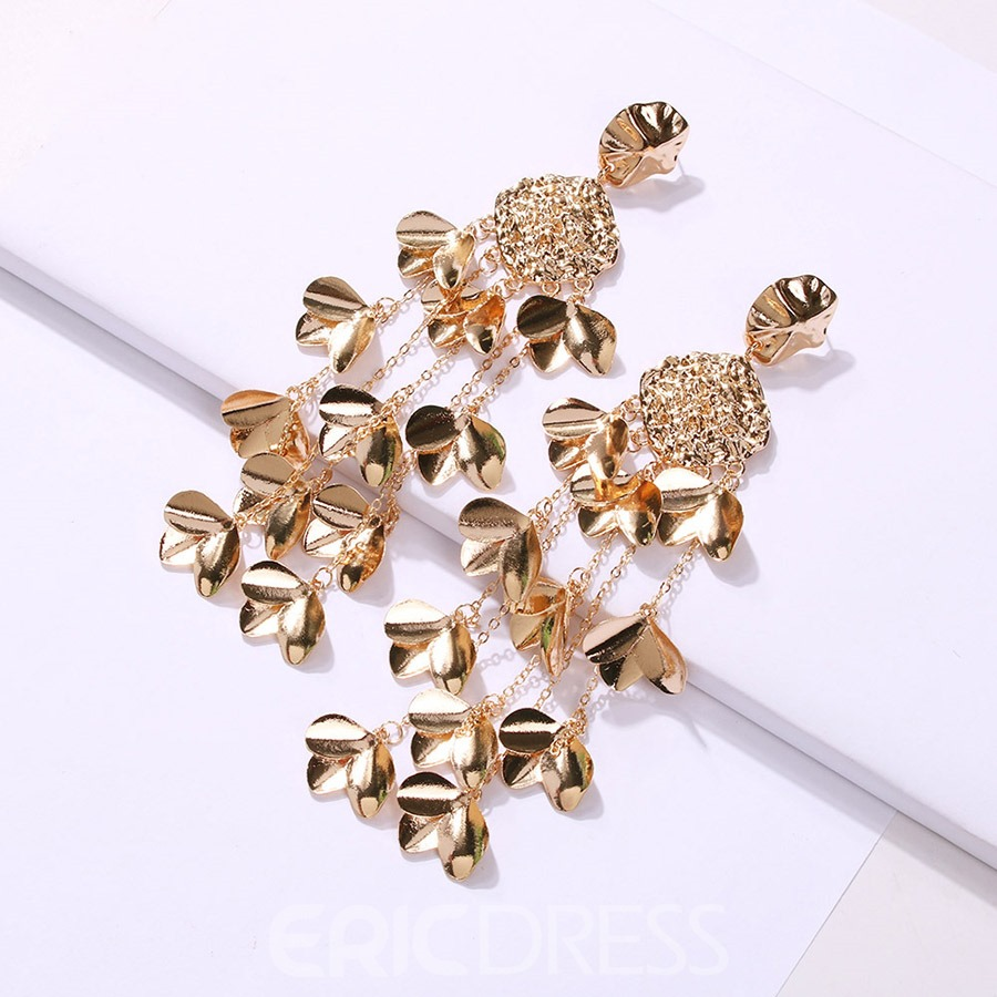 Ericdress Alloy Tassels Golden Earrings